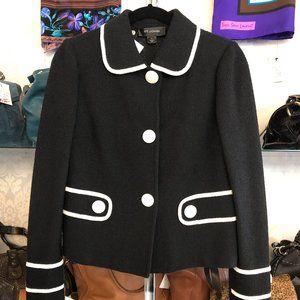 ST. JOHN BLACK LABEL Blk Button Front Knit Jacket